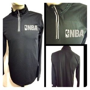 NBA Mens Active Half Zip Jacket Black Sz Medium